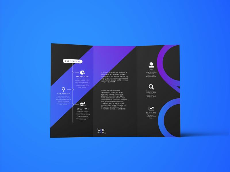 Work Flow Brochure business branding mockup design