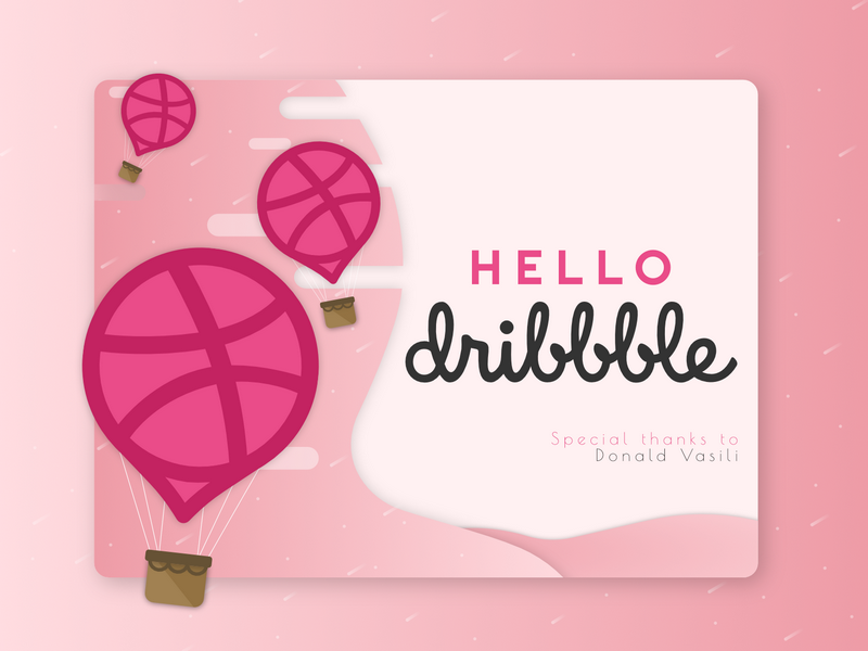 Hello Dribbble! dribbble hello