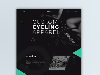 Cycling page header concept