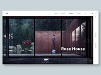 Architecture architecture ux ui web site minimal landing page web design design