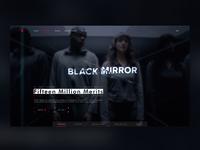Netflix Landing Page website clean black mirror netflix dark web ux ui site minimal landing page web design design