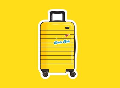 Cute Luggage Sticker Ilustration