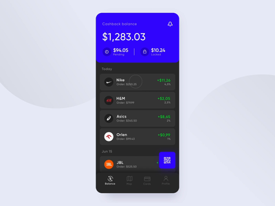 Cashback App - Animation animation application mobile motion design product web design ui ux sdh prototype cashback dark ui payment interaction after effects
