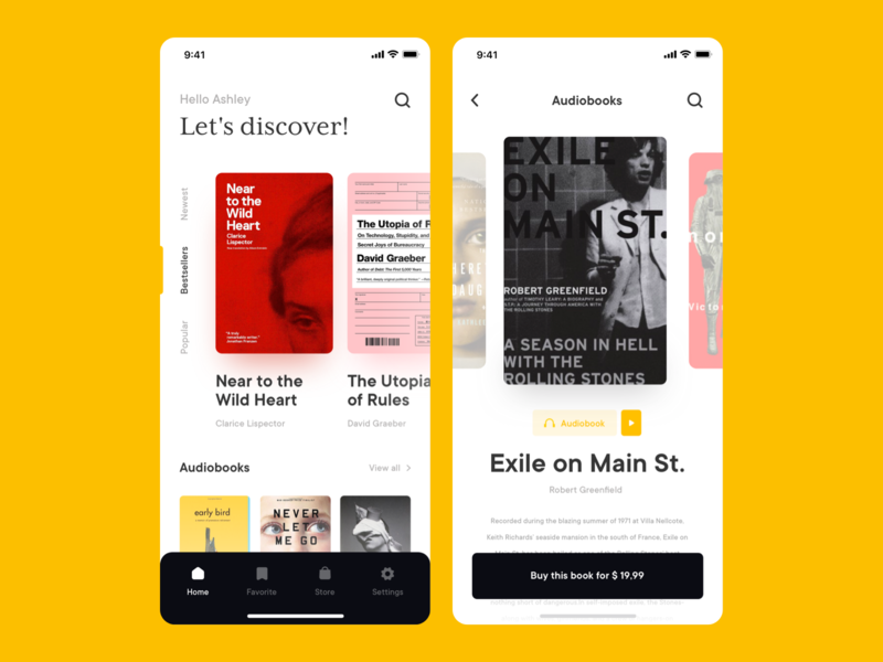 Book Store App Concept interface sdh design audiobook ui ux library bookshop ebook store app store reading mobile app mobile books app