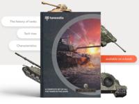 Tankedia - World of tanks book concept. Landing UI