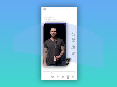 Music App Concept | UI/UX Design Screen 2