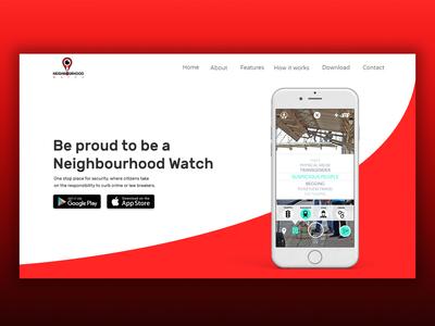 App Landing Page Design | UX UI Design | Social Awareness App