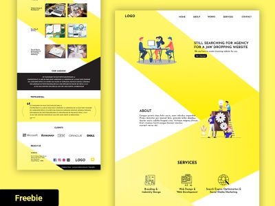 Design Agency Website | Freebie | Full website design agency branding agency company ui web landing page free html template free web template free website freebies ux design website free free download freebie ui design uiux design