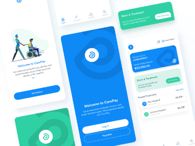 Healthcare Screens and Components mobile app healthcare onboarding