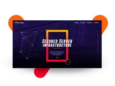 Web Hosting mock design web design ui design