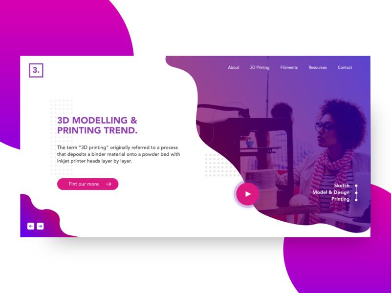 3d Printing ui design web web design design