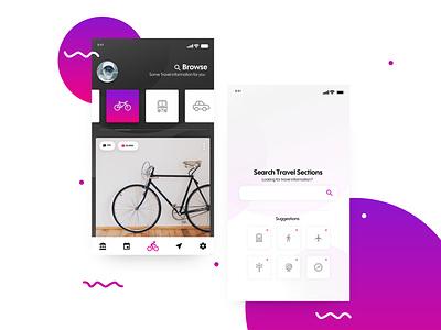Search Travel Sections ux web web design ui design