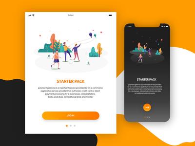 Login Screen design ui design