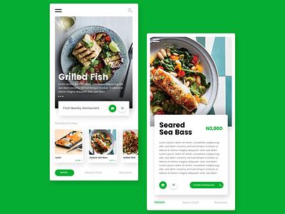 Restaurant Mobile App mobile app food restaurant adobexd