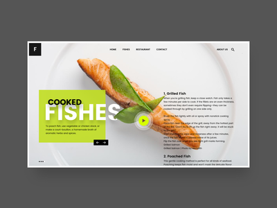 Restaurants landing Page. adobe xd