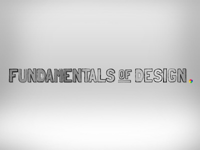 Fundamentals of Design code school design brand gray