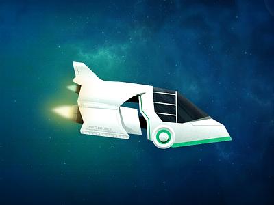 Spaceship Illustration space spaceship illustration jet engine explorer theme ui