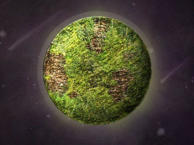 Discover Planet illustration science data science photo manipulation planet space future web education trees bark