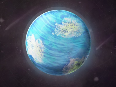 Predict Planet water island web future space planet photo manipulation data science science illustration