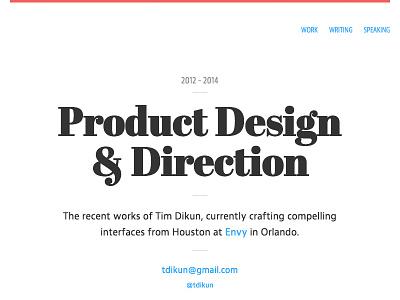 Portfolio Update 3d transforms serif clean minimal portfolio ux