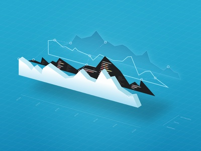 The Anatomy of a Data Visualization 3d graph line graph perspective data visualization illustration