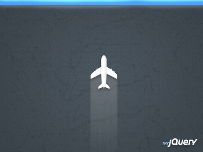 jQuery Air Revamp jquery airplane air try blue topography topo aerial branding