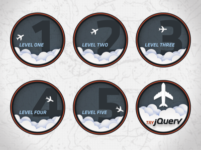 Try jQuery Badges badges jquery code school airplane blue badge