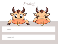 A Cute Cow On  Landing Page