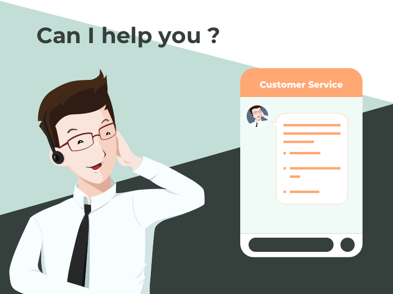 Customer Service ui illustration
