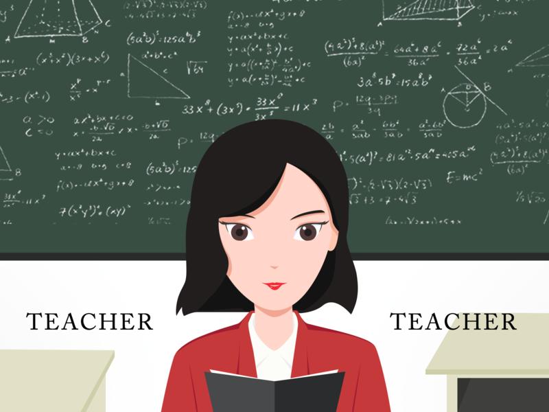 Teacher illustration