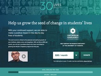 30 Lives Campaign — Landing Page