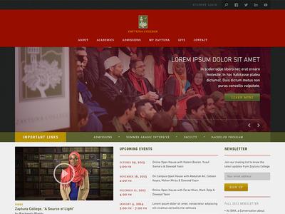 Zaytuna College — Website concept
