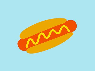 Hawt Dawg! squiggle the squiggle marcusmichaels logo hotdog food illustration hawt dawg!