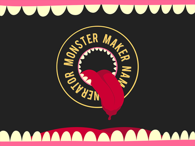 Monster Maker [Name Generator] monster monster maker name generator name generator web development javascript illustration