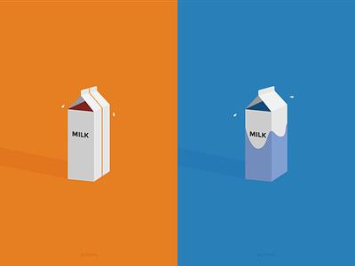 Milk Cartons milk carton minimal squiggle blue orange milk cartons complementary