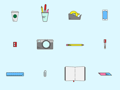 Modest Icons website emoticons camera stationery iconography vectors icons creative agency digital modest thisismodest modest industries