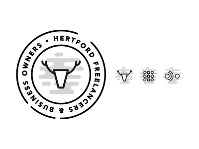 Hertford Freelancers & Business Owners Logo + Icons facebook group stag identity branding iconography icon logo