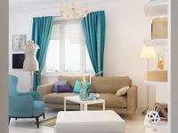 Living room, 3d project
