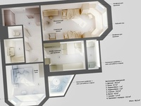 3d apartment plan #2