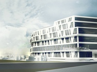Architectural visualization: Hospital project, perspective