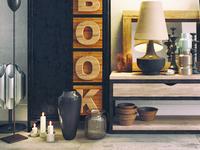 3d model. Decorative set, loft