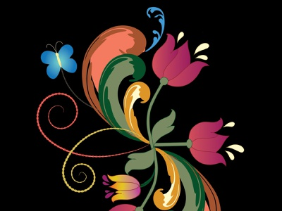 Scandinavian Style Colorful Folk-Art Illustration vector illustration scandinavian folkart rosemaling redbubble vector pattern adobe illustrator fabricprint illustration vectorillustration mamagoose26 deborah goschy graphicdesign