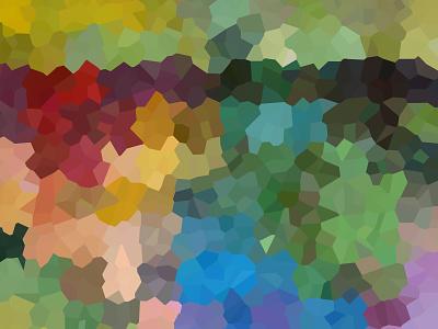 Pixel Garden pixelart abstract painting rainbow prismatic color photoshopart photoshop mamagoose26 deborah goschy graphicdesign garden pixel