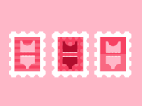 Swimsuit Stamps