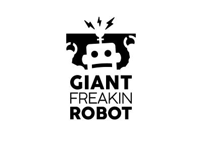 Robot Logo typography logodesign illustration vector logo design