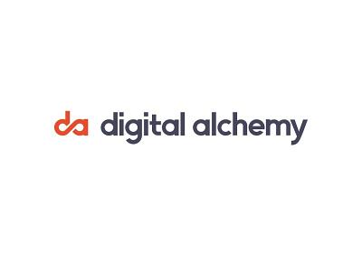 digital alchemy branding banner academy typography logodesign illustration vector logo design