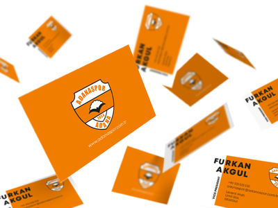 Adana Spor Business Card brand identity brand design branding cards businesscard card