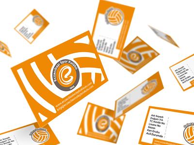 Eczacıbaşı Spor Kulübü business business card businesscard branding