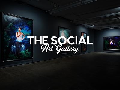 The Social Art Gallery branding logodesign logo design