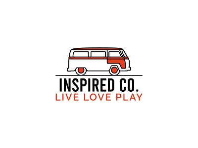 INSPIRED CO. vector typography logodesign logo design